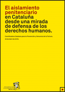 Portada de El aislamiento penitenciario en Cataluña desde una mirada de defensa de los derechos humanos