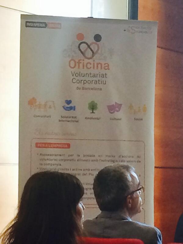 Es presenta l 39 oficina del voluntariat corporatiu de barcelona for Oficina treball barcelona