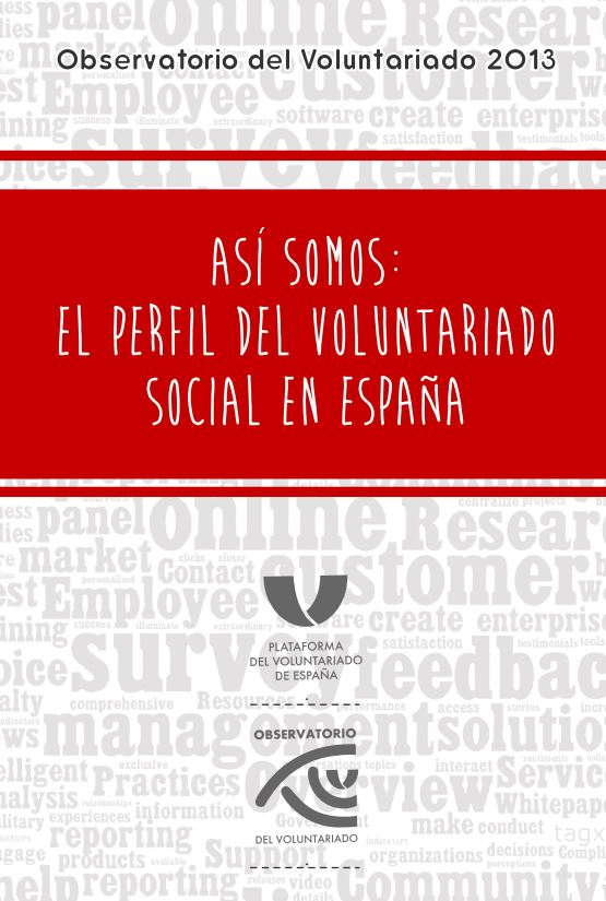 Portada de Así somos: el perfil del voluntariado social en España