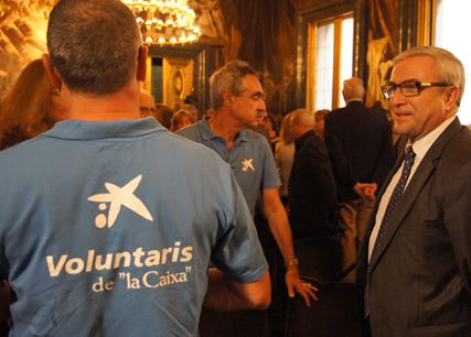 L'Associació de Voluntaris de La Caixa present en la Sala de Cróniques