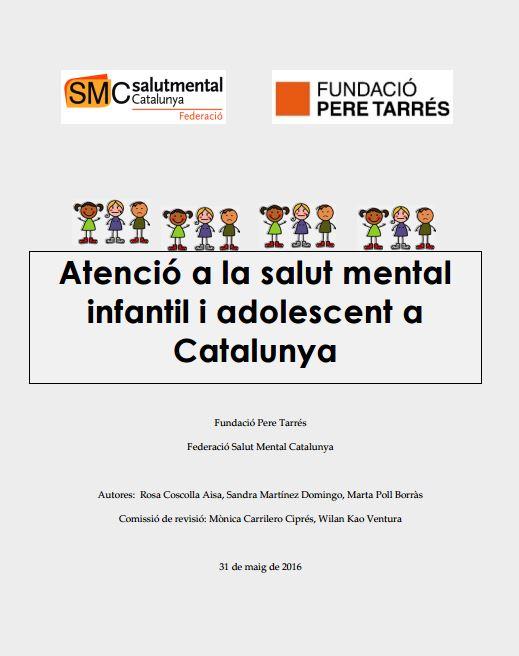 Portada de Atenció a la salut mental infantil i adolescent a Catalunya