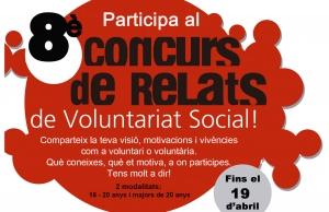 Imatge de la notícia Participa al 8è Concurs de Relats de Voluntariat Social a Lleida