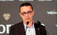 El president de l'entitat en un sopar solidari de lluita contra el càncer