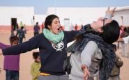 Foto: Aina Brugués ( a l'esquerra) / Font: Agrupament Escola i Guia Sant Pere