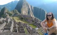 Meritxell Marín a la muntanya del Machu Picchu. Font: Facebook