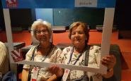 Dues dones a la trobada del projecte Sefora Font: FAVIBC