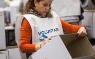 Voluntària del Gran Recapte d'Aliments de 2014. Font: Facebook del Gran Recapte