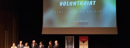 L'entitat Espigoladors recollint el Premi Voluntariat 2019.  Font: Josep Carbonell