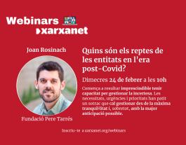 Cartell webinar Joan Rosinach Font: Xarxanet.org