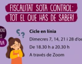 Cartell de cicle formatiu: 'Fiscalitat sota control: tot el que has de saber!'