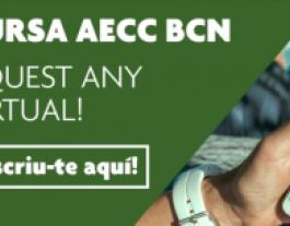Cartell I Cursa virtual AECC Barcelona en Marxa. Font: AECC Catalunya contra el càncer.