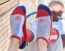 Els mitjons de Palau Socks donen suport a col·lectius en risc d'exclusió. Font: Palau Socks