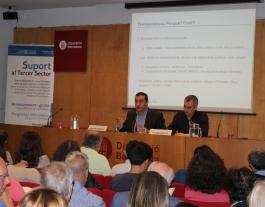 Xavier Bernadí i Víctor García durant la jornada de Suport Associatiu. Font: Suport Associatiu