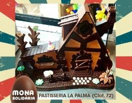 La pastisseria La Palma va començar a fer una mona solidària el 2009 Font: Eix Clot