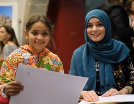 Dues de les noies participants al projecte de mentoria Rossinyol. Font: Coordinadora Mentoria Social