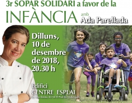 Ada Parellada és la xef encarregada d'el·laborar el menú. Font: Fundesplai. Font: Font: Fundesplai.