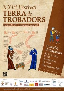 Cartell XXVI Festival Terra de Trobadors / Font: Ajuntament de Castelló d'Empúries