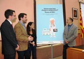 """Imatge de la presentació de la campanya """"Creus que has d'anar a urgències? Truca al 061"""" (Font:  premsa.gencat.cat)"""