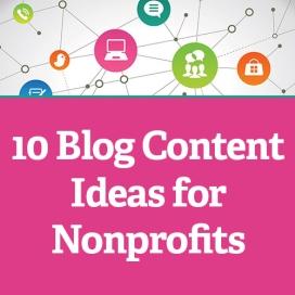 Imatge original en anglès '10 Blog Content Ideas for Nonprofits'