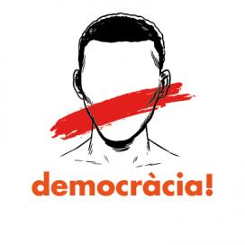 Imatge a favor de la democràcia i contrària a l'aplicació de l'article 155
