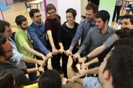 Grup de joves a la 10a Àgora Jove