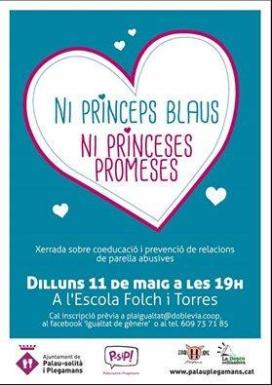 "Cartell de ""Ni princeps blaus ni princeses promeses"" / Foto: Associació Candela"