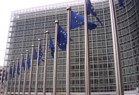 Banderes europees davant la Comissió. Font: Vikipèdia