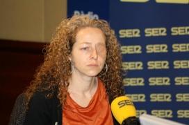 Ester Quintana, veïna de Barcelona que va perdre un ull per l'impacte d'una pilota de goma llençada pels Mossos d'Esquadra. Font: Cadena Ser