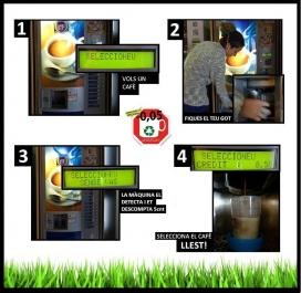 Com introduir el teu got reutilitzable a les màquines de cafè? (Font: FAS)
