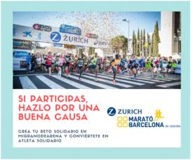 La Marató solidària permet recaptar fons per a projectes de 1.500 ONG. Font: Zurich Marató de Barcelona