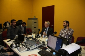 Programa en directe amb Xavier Trias, exalcalde de Barcelona (font: Ràdio Ateneu del Clot)