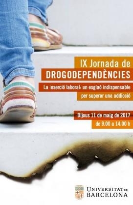 Cartell IX Jornada de Drogodependències organitzada per Projecte Home