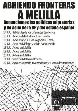 Agenda d'actes durant la Caravana Frontera Sur