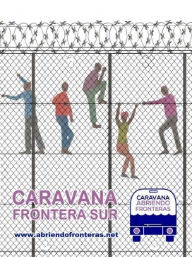 Cartell de la Caravana Frontera Sur