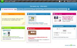 Aspecte del netvibes del portal informàtic de xarxanet.org