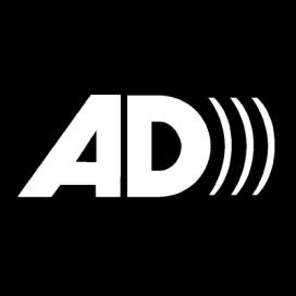 El símbol que indica que s'ofereix audiodescripció per a persones cegues
