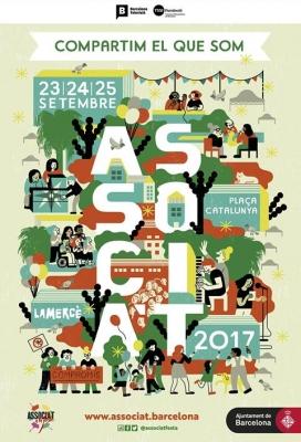 Cartell de l'Associa't a la Festa 2017 obra de Cristina Spanó