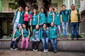 Grup de voluntariat internacional. Font: Flickr, MDE Ciudad Inteligente