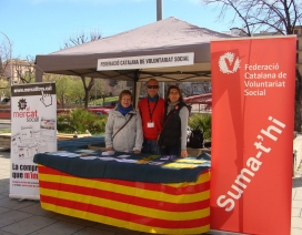 L'estand de la FCVS a la Fira d'Entitats de Girona 2016