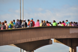 Caminada popular 'El voluntariat en marxa' a Lleida