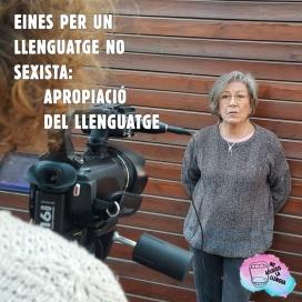 Teresa Sanz, professora de literatura jubilada i activista de Ca La Dona, parla d'apropiació del llenguatge a 'No Afluixis la Llengua'