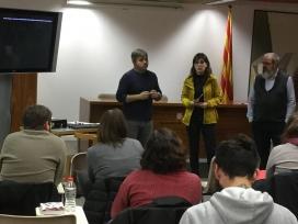 La Directora General de Joventut, Marta Vilalta, presentant l'obertura del curs.