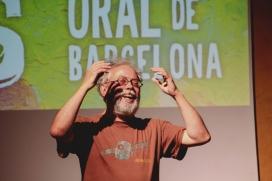 Quico Cadaval, un dels narradors del Festival, durant una actuació