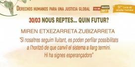 Cartell de l'acte de clausura del curs anual de Drets Humans. Font: IDHC