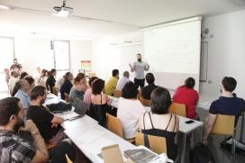 Imatge de la trobada anual de les cooperatives de treball, a l'Assemblea de la Federació de Cooperatives de Treball de Catalunya.