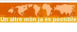 El conegut logotip del FSM, en català i a Catalunya