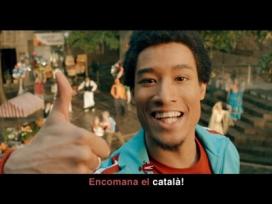 """Imatge de la campanya """"Encomana el català"""". Font: Generalitat"""