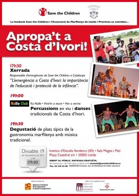 Cartell de la xerrada 'Apropa't a Costa d'Ivori'