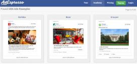 Mitjançant Adespresso podreu veure molts exemples de campanyes publicitàries a Facebook