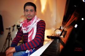 El pianista del camp de refugiats de Yarmouk. Font: ACP